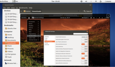 GNOME Sushi file preview app for GNOME Shell